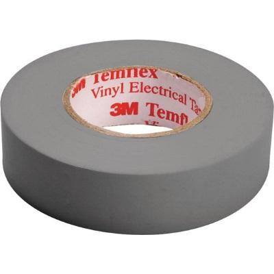 3M - Temflex 1500 ruban isolant électrique vinyl 19mm x 20m gris