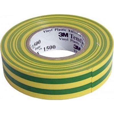 3M - Temflex 1500 elektrische isolatietape vinyl 19mm x 20m geel/groen