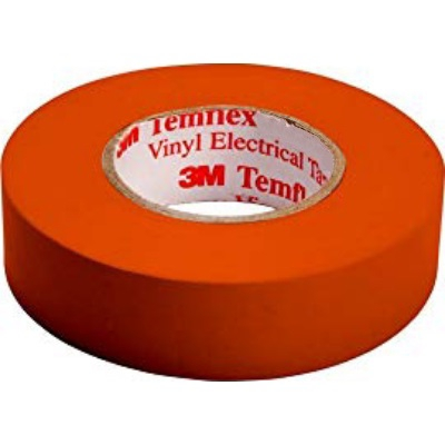 3M - Temflex 1500 ruban isolant électrique vinyl 19mm x 20m orange