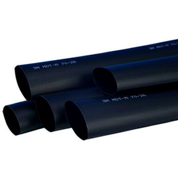 3M - MDT-A halfdikwandige warmtekrimpkous met lijm 19/6 zwart 1m