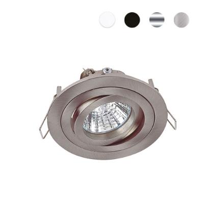 Bel-Lighting - Sara spot encastré 1xGU10 max. 50W orientable chrome mat brossé