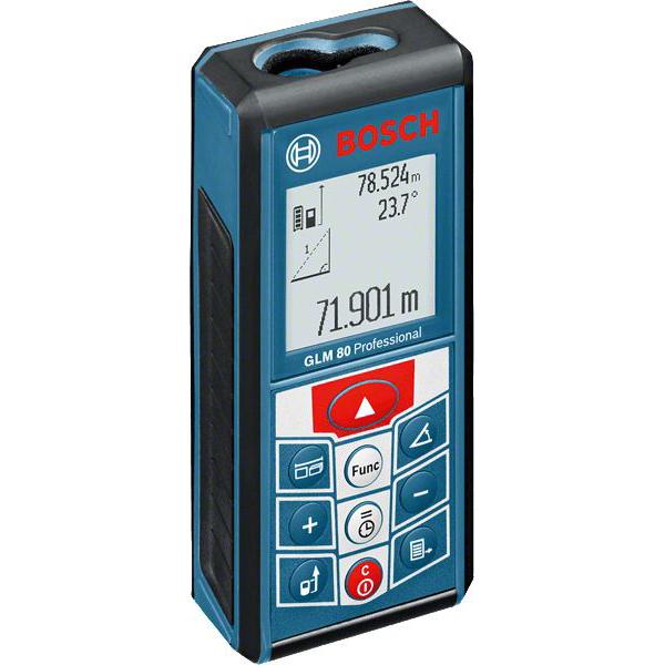 BOSCH - Télémêtre laser GLM 80, capacité 80m, carton + sac