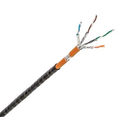 Data Kabels - LANmark Industry S/FTP AWG23 Cat 6A LSZH Cca Orange + PE Fca Black 500m reel