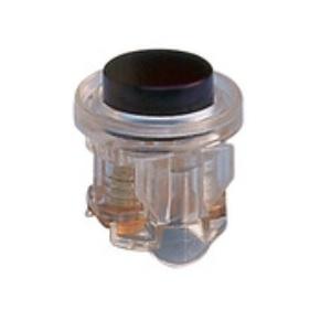 FRIEDLAND - drukker voor beldrukplaat 2A 1-24V AC/DC transparant met zwarte knop
