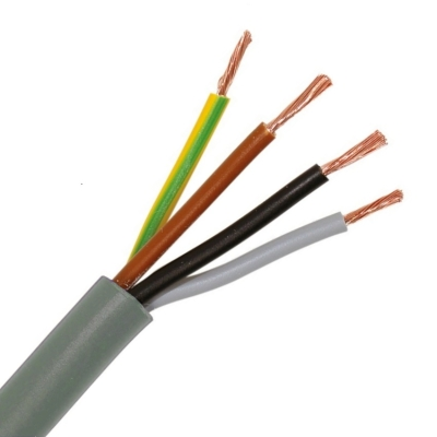 CABLEBEL - H05VV-F VTMB verbindingskabel PVC flexibel gladde mantel 500V grijs 4G2,5mm²