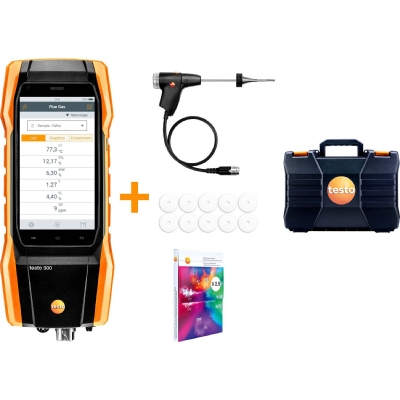 measuring instruments - Testo 300, rookgasalyser incl. O2/CO tot 4.000 ppm, Bluetooth, accu, netadapter