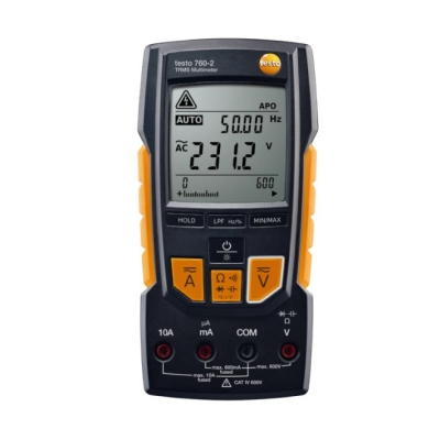 measuring instruments - Testo 760-2, TRMS multimeter incl. accu, 1 set meetkabels.
