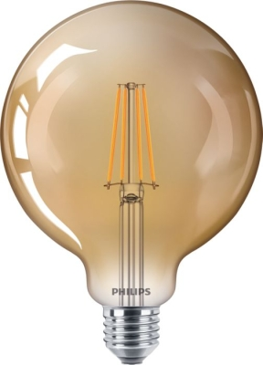 PHILIPS - CLA LED bulb dimmable 8-50W E27 G120 230V 2200K 360lm CRI80 Gold 15000h