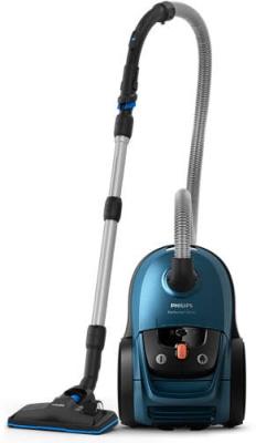 PHILIPS - Stofzuiger Performer Silent met allergiefilter - 4l - snoer 9m - blauw
