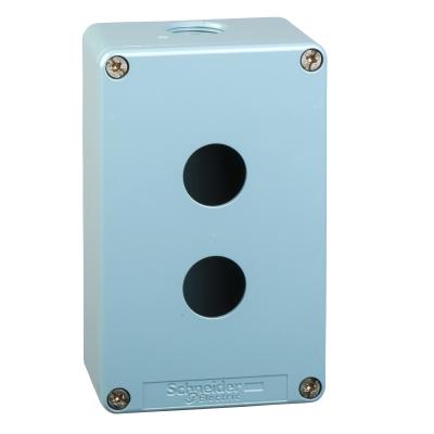 TELEMECANIQUE - boîte à boutons vide - XAP-M - métallique - 2 perçages hor. Ø22 - 80x130x49mm