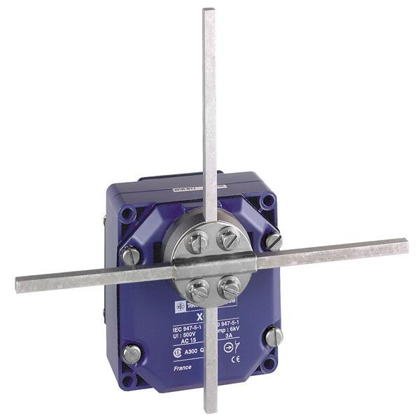 TELEMECANIQUE - standschakelaar XCR-E - vierkante schakelstang kruis of T 6 mm - 1NC+1NO