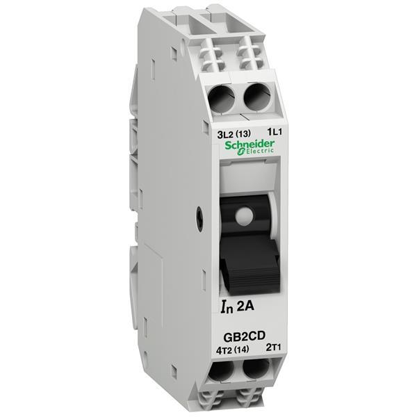 TELEMECANIQUE - Vermogenschakelaar voor stuurkring - GB2-CD - 10A - 1P+N - 1d