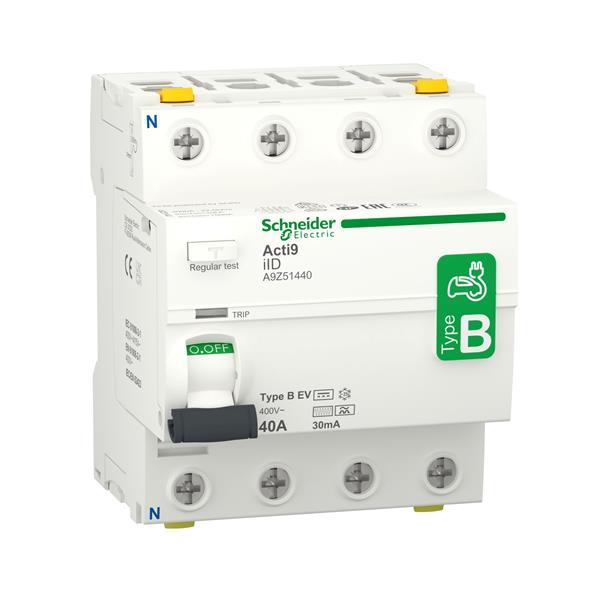 MERLIN GERIN - Acti9 iID - Interrupteur différentiel - 4P - 40A - 30mA - B EV type