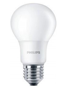 PHILIPS - 1+1 gratis - CorePro LED bulb 8-60W E27 A60 230V 2700K 806lm CRI80 200D 15000u