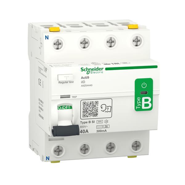 MERLIN GERIN - Acti9 iID - Interrupteur différentiel - 4P - 40A - 300mA - B-SI type