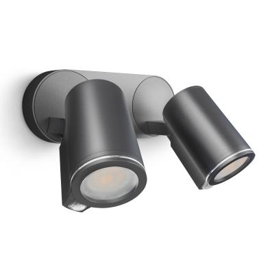 STEINEL - Steinel spot extérieur DUO sensor anthracite GU10 7,5W 3000K 520lm