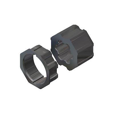 FAAC - TM2 AD45 OCTO 60 - Adapterset voor octogonale as diam.60mm