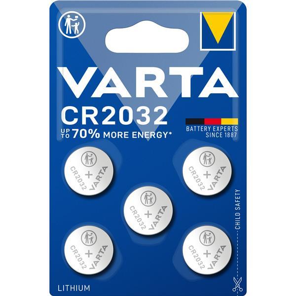 VARTA - Multipack knoopcellen CR2032 Lithium Blister (5 stuks)