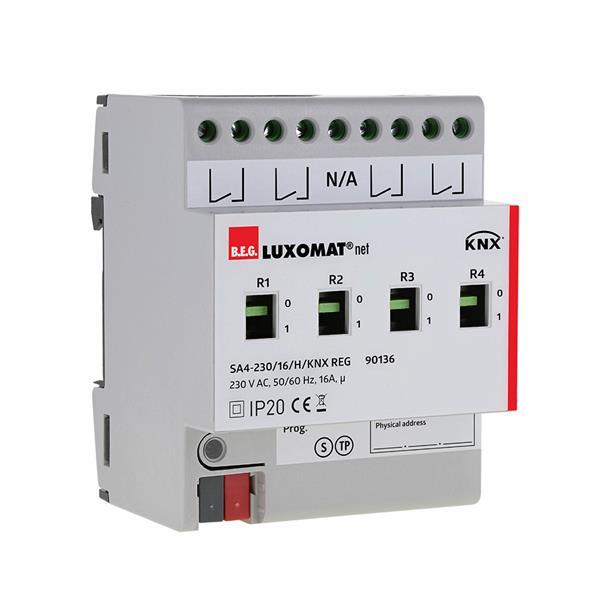 Luxomat - KNX actionneur de commutation 4 canaux, 230V AC