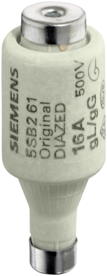 SIEMENS - DIAZED FUSE LINK 500V F.CABLE AND LINE PROTECTION OP.CL.GL,SZ.DII,THREAD E27,16A