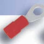 SICAME - Oeillet cuivre isolé PA rouge 0,5-1,5mm² borne de raccord M4