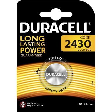 DURACELL - Batterij Specialty Lithium - 3V - 2430 / DL2430 / ECR2430 / CR2430 - 1 stuk