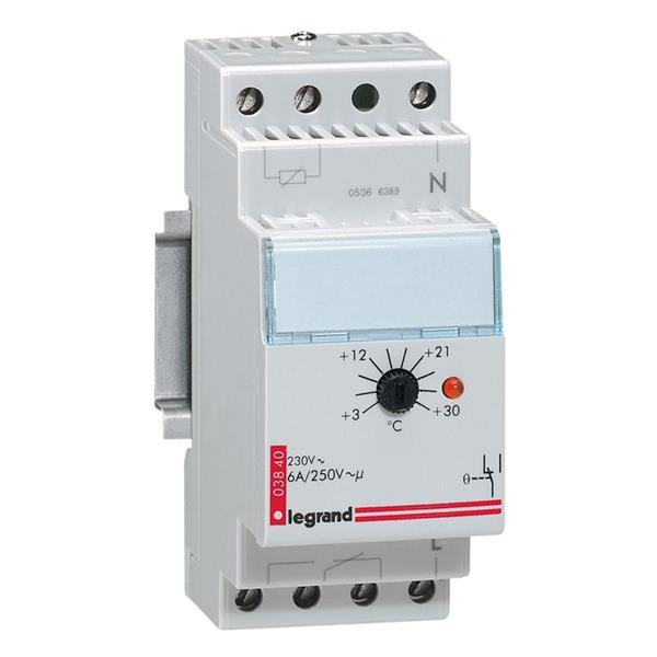 LEGRAND - Omgevingsthermostaat 6A - 250V - 3/30oC - 2 modules