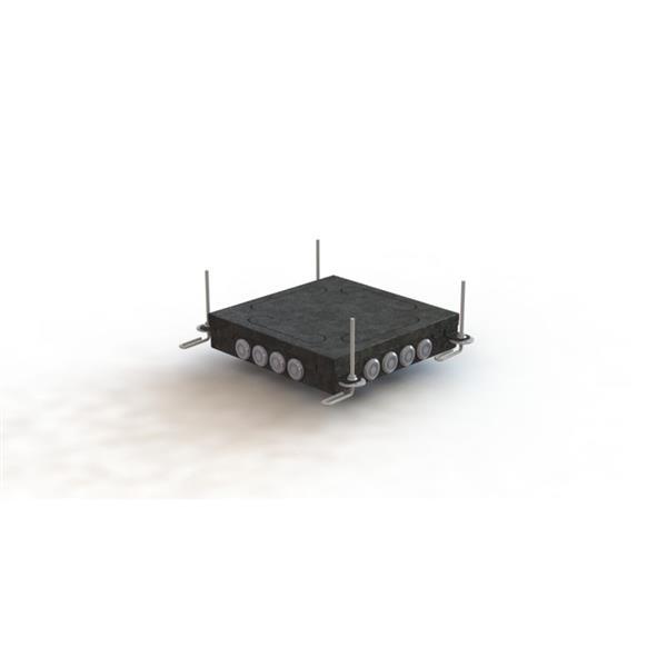 Vangeel Systems - Boîte d'encastrement carrée IK-3 - hauteur réglable de 55 à 140 mm - pour jeu de