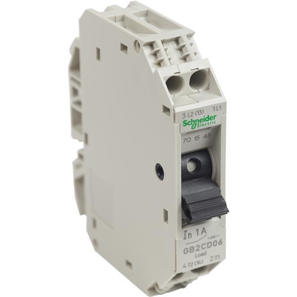 TELEMECANIQUE - Disjoncteur pour circuit de contrôle - GB2-CD - 1A - 1P+N - 1d
