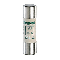 LEGRAND - Cartouche cyl. aM 14x51 25A HPC sans percuteur 500V 100kA
