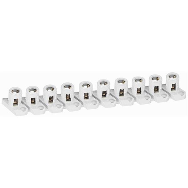 LEGRAND - Barrette 10 bornes séparables cap. 2 x 10 mm² - avec pattes