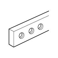 LEGRAND - Koperen staaf 12x4mm - lengte 990mm - met getapte gaten M5 - 160A