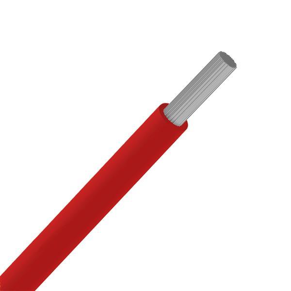 CABLES SPECIAUX - Fil souple silicone résistant à haute t° +180°C rouge SIAF 4mm² 100m