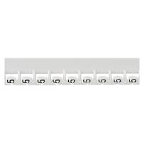 LEGRAND - Mémocab merkteken - cijfer 5 - zwart/witte achtergrond - 2,3 mm