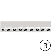 LEGRAND - Repère Mémocab - lettre R noir sur fond blanc - 2,3 mm