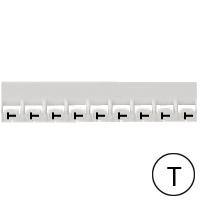 LEGRAND - Repère Mémocab - lettre T noir sur fond blanc - 2,3 mm