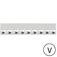 LEGRAND - Repère Mémocab - lettre V noir sur fond blanc - 2,3 mm