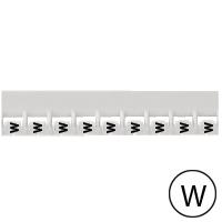 LEGRAND - Repère Mémocab - lettre W noir sur fond blanc - 2,3 mm
