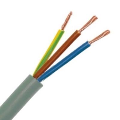 CABLEBEL - H05VV-F VTMB verbindingskabel PVC flexibel gladde mantel 500V grijs 3G1,5mm²