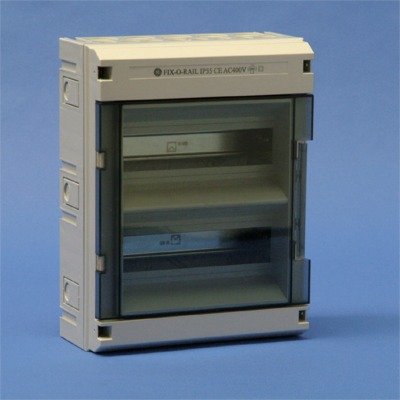 VYNCKIER - Fix-o-Rail 55 2 rangées 24 mod. porte transparente (650°C)