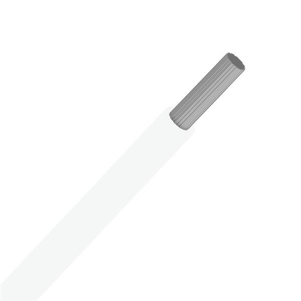 SPECIALE KABELS - Soepele draad silicone hittebestendig +180°C wit SIAF 0,75mm² 100m