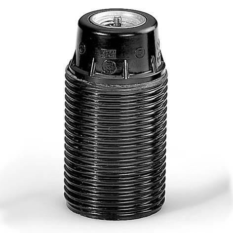 HUPPERTZ - Socket bakelite avec filetage extérieur noir E14