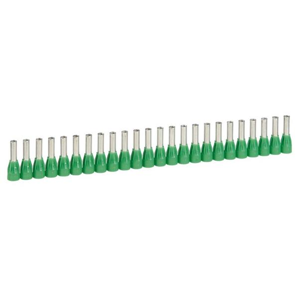 LEGRAND - Embout Starfix section 6 mm² 10x25 -vert- collerette isol.