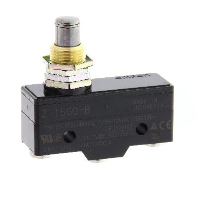 OMRON - Microrupteur, std., plongeur montage sur panneau, 1 inverseur, 15 A, bornes