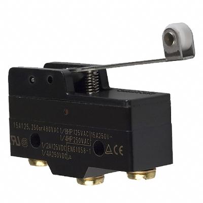OMRON - Microrupteur, std., levier à galet, 1 inverseur, 15 A, bornes à visser