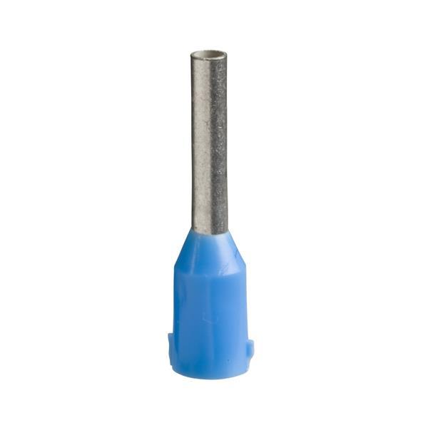 TELEMECANIQUE - Aangegoten draadhulsje - formaat middellang - 0,75 mm² - blauw