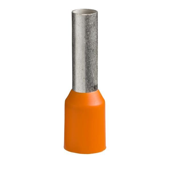 TELEMECANIQUE - Aangegoten draadhulsje - formaat middellang - 4 mm² - oranje
